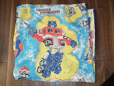 Vintage 1984 TRANSFORMERS Twin Bed Sheet