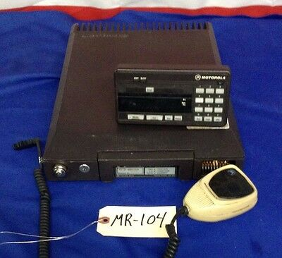 Motorola Syntor VHF X9000 radio  T73KXJ7J04BK w/ MIc and Remote Head - Untested