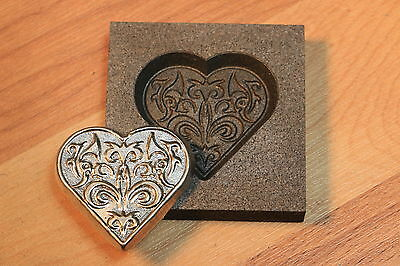 Super HEART Graphite mold for Silver - Gold - Glass works Ingot casting copper