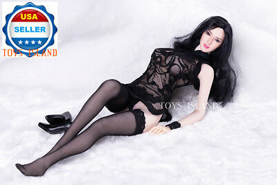 """1//6 Arm Sleeves Warmers Stockings Set BLACK For 12/"""" PHICEN Female Figure ❶USA❶"""