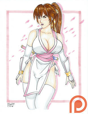 KASUMI Dead or Alive Sexy Rare Original Pinup Game Poster - PillowDS Art