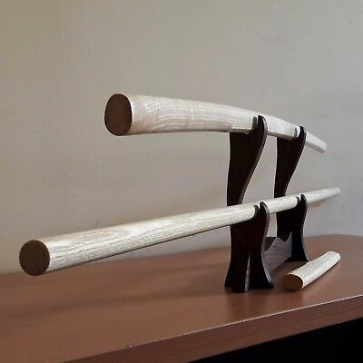 A set of wooden weapons for aikido bokken, jo, tanto (ash)