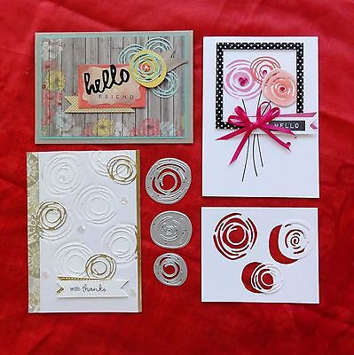 Shopaperartz SCRIBBLY CIRCLES SET OF 3 CUTTING DIES FITS SIZZIX CUTTLEBUG