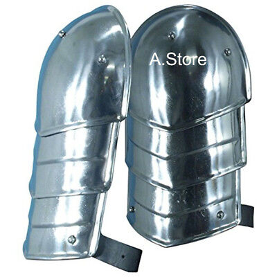 Medieval Merc Steel Pauldrons Shoulder Armour Chrome Finish One Size