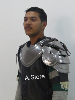Armour Gothic Gorget Set with Pauldrons Shoulder Guard