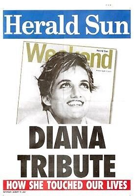 Princess Diana Tribute Poster Clippings British Monarchy UK English Royalty