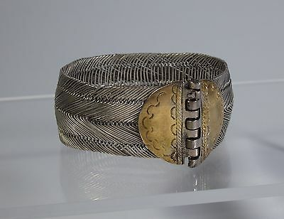 Ottoman Empire-Antique Turkish Ladies Bracelet-Silver Alloy-18Th Century
