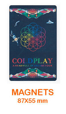 COLDPLAY magnet / aimant 5,5 cm x 8,7 cm A HEAD FULL OF DREAMS TOUR