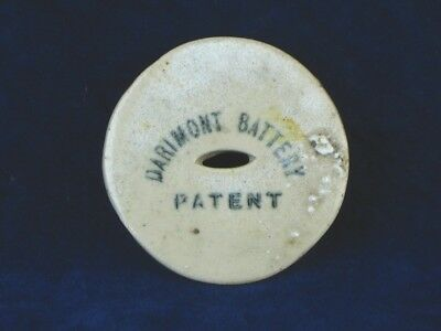 22572 Old Vintage Printed Pot Lid Battery Accumulator Electrical Patent Bulb
