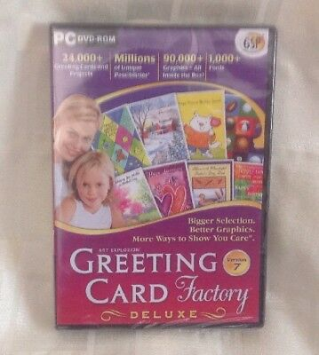 Brand New - GREETING CARD FACTORY DELUXE VERSION 7 PC DVD-ROM 3 EASY STEPS