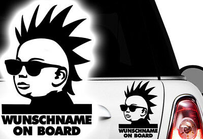 1x Aufkleber WUNSCHNAME ON BOARD Sticker Hangover Baby Auto Kind fährt mit FUNyy