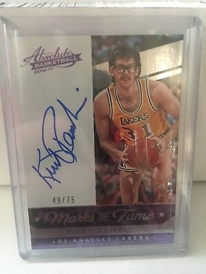 Kurt Rambis La Lakers On Card Auto Absolute 2016/17 /75