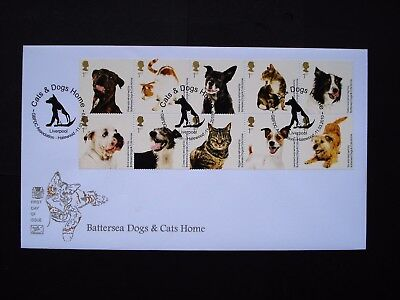 Battersea Cats & Dogs Home 2010 10 x 1st se tenant block Cotswold Superb FDC