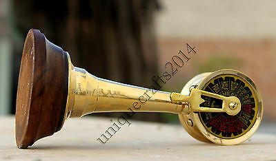 Vintage Style Nautical Telegraph Maritime Shiny Brass Telegraph Desk Decorative