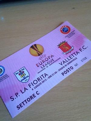 2013/14 Sp La Fiorita V Valletta - Uefa Europa League - Used Ticket