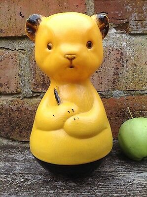 Vintage Sooty Weeble 1950s Childrens Toy Rattle Kitsch Mid Century Rocker BBC TV