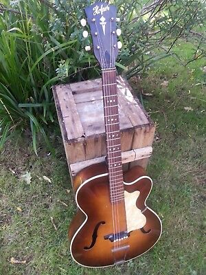 Most Charming Hofner Archtop,1962, 1 Owner. In Rich Sunburst - Original Parts.!