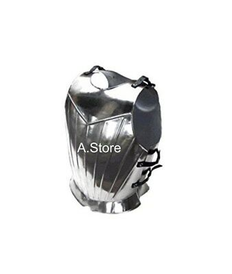 Roman Muscle Breast Plate Medieval Armor Silver Finish Armor Jacket