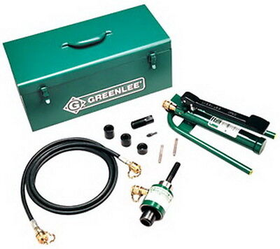 Greenlee 7606SB Slug-Buster Ram and Foot Pump Hydraulic Driver Kit with 6 Condui