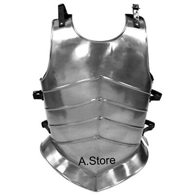 Armor Medieval Knight Steel Body Roman Muscle Plate Cuirass Leather Strap
