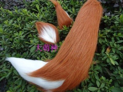 Anime Wolf Fox Plush Tail Ears Cosplay Costume Christmas All-match Party Prop
