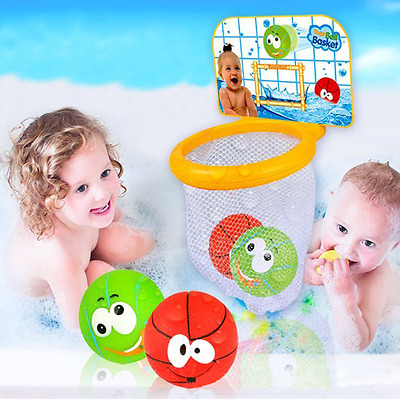 New Kids Baby Bath Time Little Basketball Shooting Hoops Ball Game Toy Gift Set