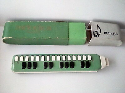 Vintage Boxed HOHNER Harmonica Melodica Soprano 25 Keys Good Condition in Box