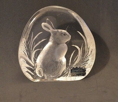 VINTAGE RARE Mats Jonasson Rabbit / Easter Bunny, Lead, Etched & Decal & # 3281