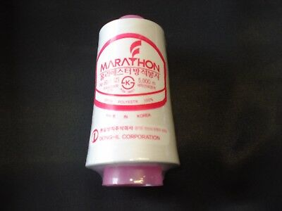 Marathon Bobbin Thread, White, 5,000m for Embroidery Machine