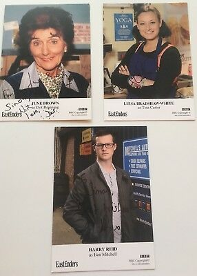 Eastenders Signed Cast Cards X 3