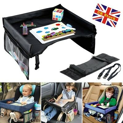 Child Baby Safety Car Seat Table Kids Snack Plate Play Travel Drawing Board Tray