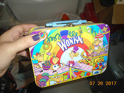 1990s Willy Wonka & the Chocolate Factory Tin Lunch Box Laffy Taffy Shock Tarts