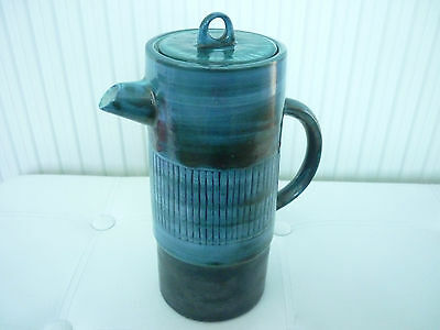 Superb Very Rare Troika St. Ives Coffee Pot, Benny Sirota.