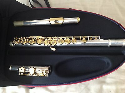 Silver and gold plated Flute