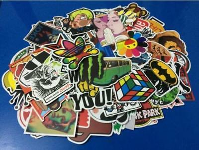 50pcs Random Skateboard Vinyl Sticker Graffiti Phone Luggage Car Bomb Decal Lot
