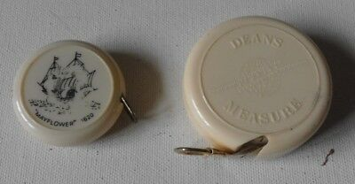 Vintage Retro 1960S 1970S Dean 2 X Measuring Tapes 60 Inch & 100 Cm Sewing Craft