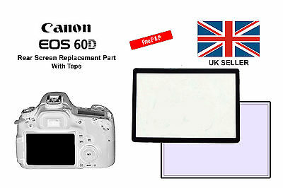 Rear Screen Replacement Part With Tape New For Canon 60D / 600D