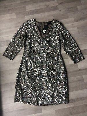 new with tags size 10 oasis stunning sequin cocktail dress Xmas party ready!