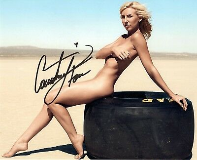 Courtney Force REAL hand SIGNED Sexy 8x10 Photo #1 Drag Racer w/ COA Autographed