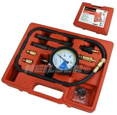 CYLINDER LEAK TESTER for PETROL & DIESEL ENGINES Pressure Loss Gauge & Adaptors