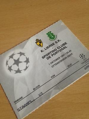 1997/98 Lierse Sk V Sporting Lisbon - Champions League - Used Ticket