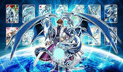 Yu-Gi-Oh PlayMat Blue Eyes White Dragon Kaiba Mat