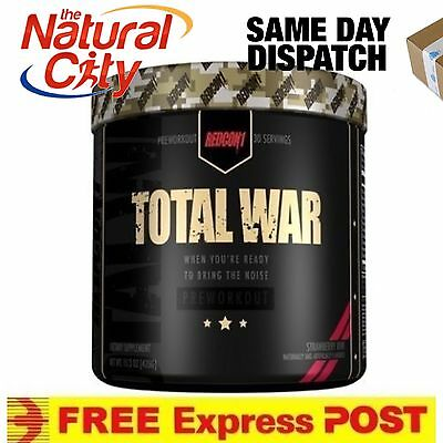 Redcon1 Total War 435g - Pre workout - FREE UPGRADE TO EXPRESS POST