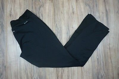 Nike Dri-Fit Womens Black Side Ankle Zip Workout Athletic Running Pants Size L