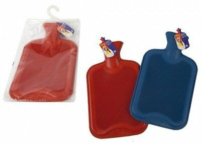 Large 2L Litre Ribbed Rubber Hot Water Bottle Travel Kids Adults Winter