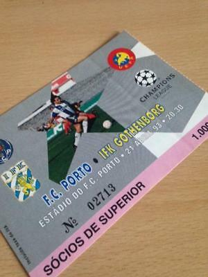1992/93 Fc Porto V Ifk Gothenborg - Champions League - Used Ticket