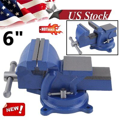 """6"""" Bench Vise with Anvil Swivel Locking Base Table top Clamp Heavy Duty Steel MY"""