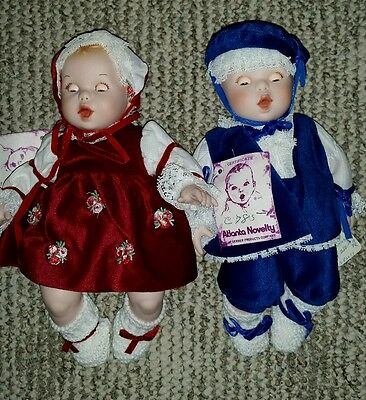 Gerber Porcelain Boy Girl Baby Twin Collector Dolls - Vintage - Limited Edition