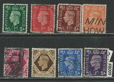 #8009 GREAT BRITAIN King George V Lot Used 1937-39 Combine Shipping