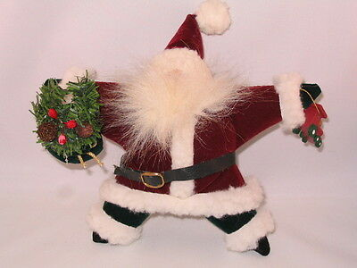 Country Rustic Handcrafted Santa Claus Father Christmas Doll Ornament